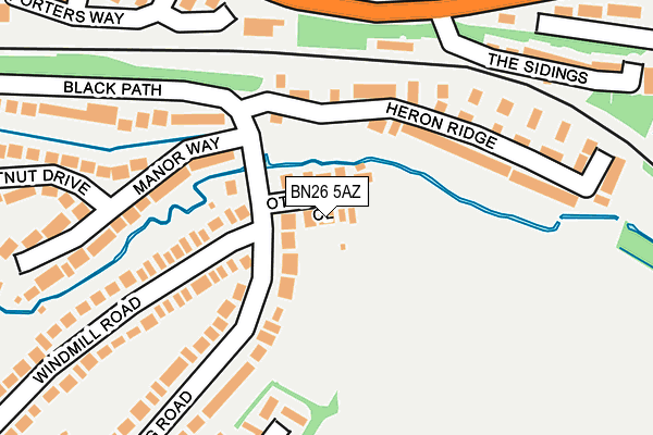 BN26 5AZ map - OS OpenMap – Local (Ordnance Survey)