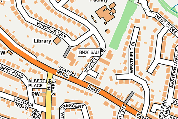 Map of LEBOGREY LTD at local scale
