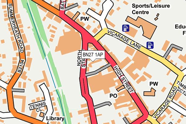 BN27 1AP map - OS OpenMap – Local (Ordnance Survey)
