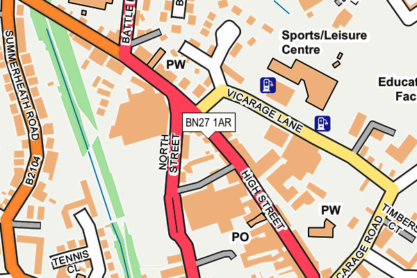 Map of HAILSHAM TECHNOLOGY LTD at local scale