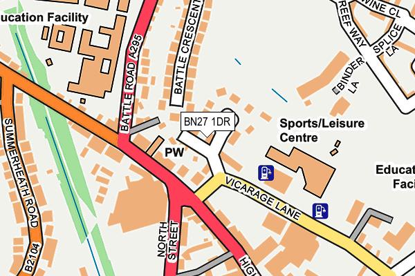 BN27 1DR map - OS OpenMap – Local (Ordnance Survey)