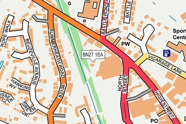 BN27 1EA map - OS OpenMap – Local (Ordnance Survey)