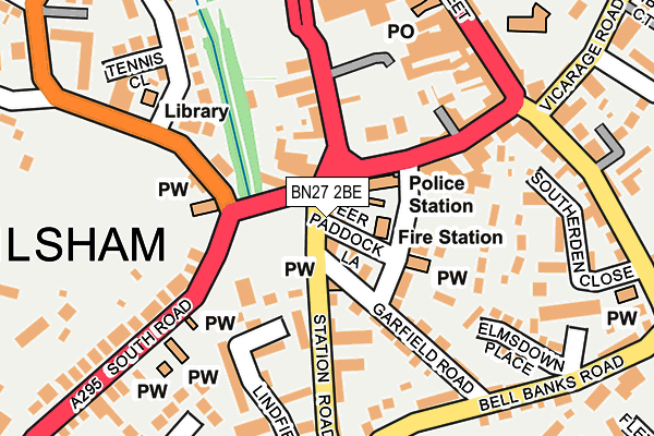 BN27 2BE map - OS OpenMap – Local (Ordnance Survey)