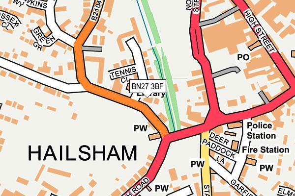 BN27 3BF map - OS OpenMap – Local (Ordnance Survey)