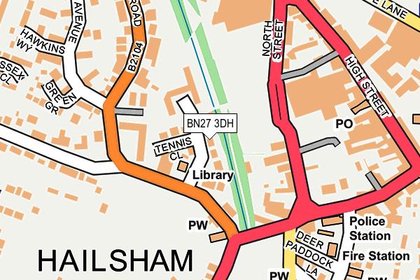 BN27 3DH map - OS OpenMap – Local (Ordnance Survey)