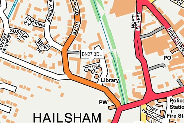 BN27 3DL map - OS OpenMap – Local (Ordnance Survey)