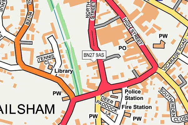 BN27 9AS map - OS OpenMap – Local (Ordnance Survey)