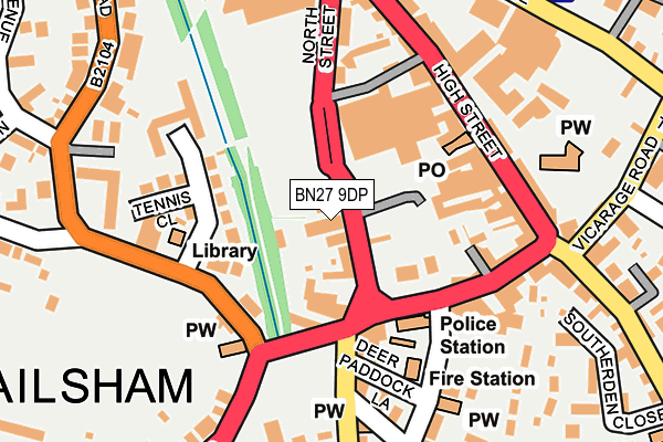 BN27 9DP map - OS OpenMap – Local (Ordnance Survey)