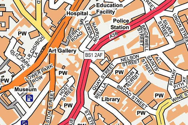BS1 2AF map - OS OpenMap – Local (Ordnance Survey)