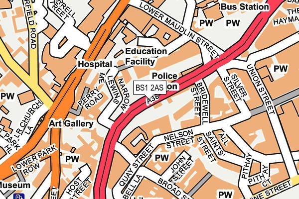 BS1 2AS map - OS OpenMap – Local (Ordnance Survey)