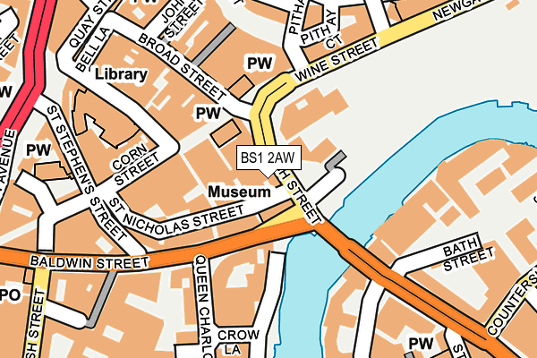 BS1 2AW map - OS OpenMap – Local (Ordnance Survey)