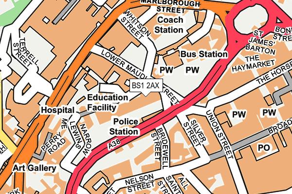 BS1 2AX map - OS OpenMap – Local (Ordnance Survey)