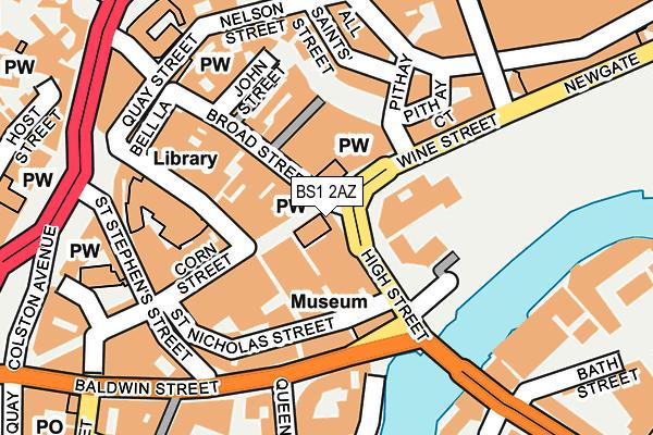 BS1 2AZ map - OS OpenMap – Local (Ordnance Survey)