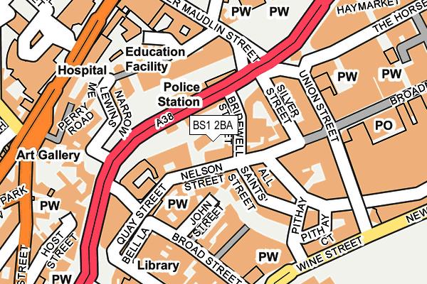 BS1 2BA map - OS OpenMap – Local (Ordnance Survey)