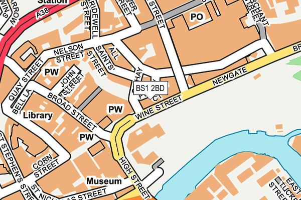 BS1 2BD map - OS OpenMap – Local (Ordnance Survey)