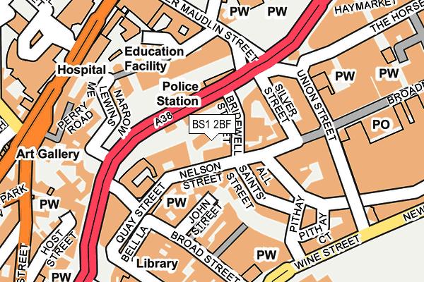 BS1 2BF map - OS OpenMap – Local (Ordnance Survey)