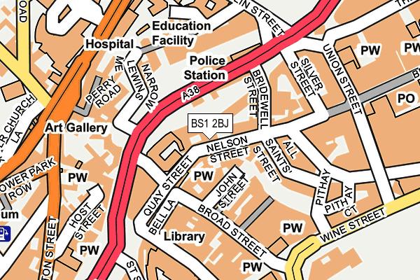 BS1 2BJ map - OS OpenMap – Local (Ordnance Survey)