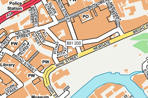 BS1 2DD map - OS OpenMap – Local (Ordnance Survey)