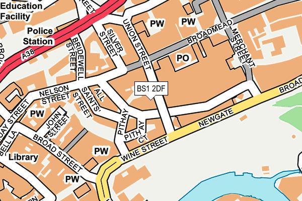 BS1 2DF map - OS OpenMap – Local (Ordnance Survey)