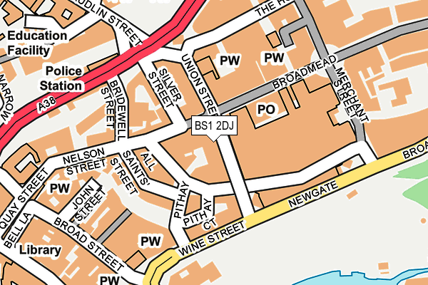 BS1 2DJ map - OS OpenMap – Local (Ordnance Survey)