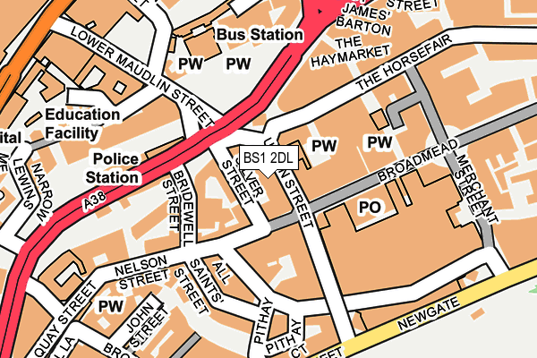 BS1 2DL map - OS OpenMap – Local (Ordnance Survey)