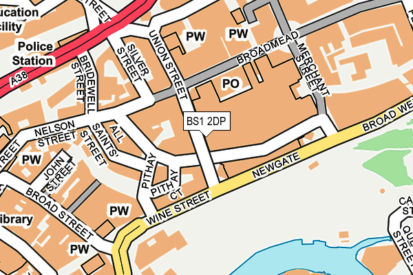 BS1 2DP map - OS OpenMap – Local (Ordnance Survey)