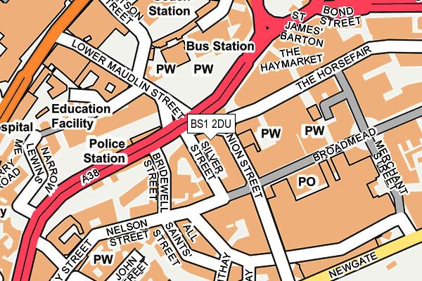 BS1 2DU map - OS OpenMap – Local (Ordnance Survey)