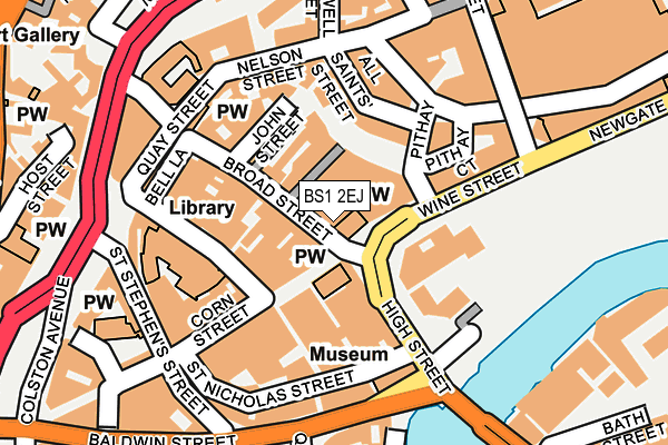 BS1 2EJ map - OS OpenMap – Local (Ordnance Survey)