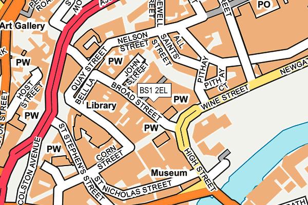BS1 2EL map - OS OpenMap – Local (Ordnance Survey)