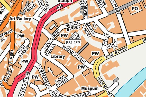 BS1 2EP map - OS OpenMap – Local (Ordnance Survey)