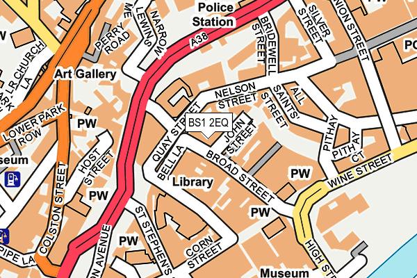 BS1 2EQ map - OS OpenMap – Local (Ordnance Survey)