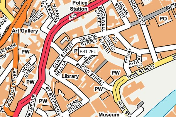 BS1 2EU map - OS OpenMap – Local (Ordnance Survey)