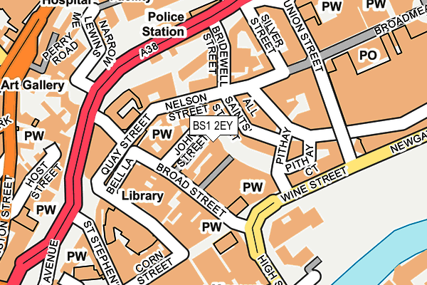 BS1 2EY map - OS OpenMap – Local (Ordnance Survey)
