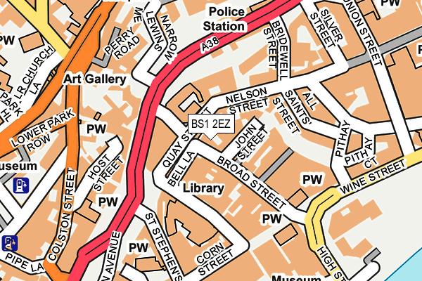 BS1 2EZ map - OS OpenMap – Local (Ordnance Survey)