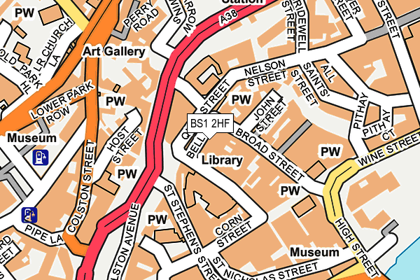 BS1 2HF map - OS OpenMap – Local (Ordnance Survey)