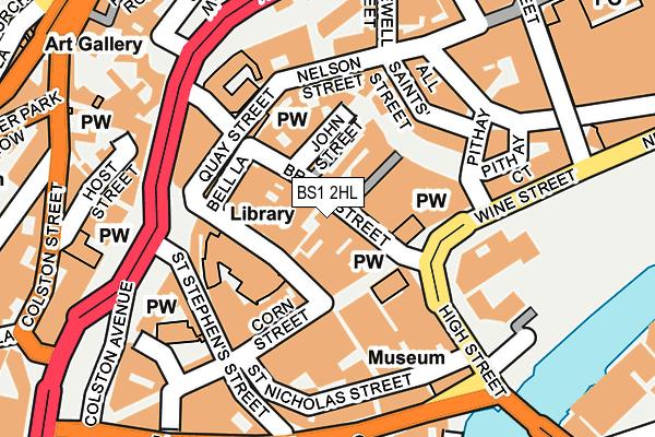 BS1 2HL map - OS OpenMap – Local (Ordnance Survey)
