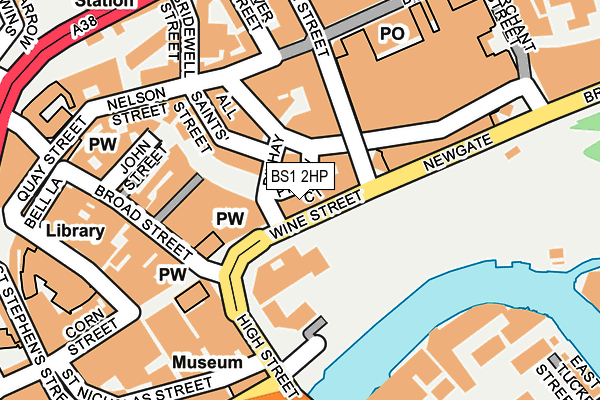 BS1 2HP map - OS OpenMap – Local (Ordnance Survey)
