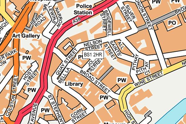 BS1 2HR map - OS OpenMap – Local (Ordnance Survey)