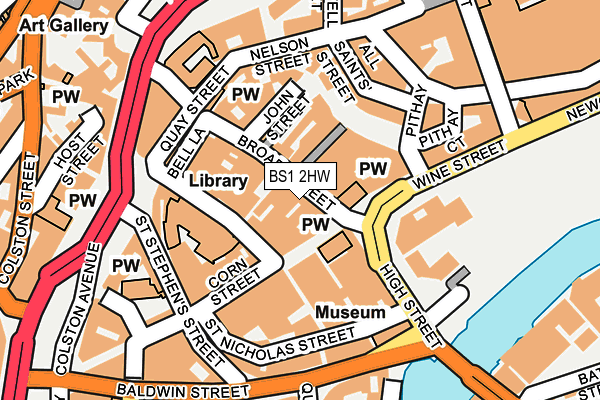 BS1 2HW map - OS OpenMap – Local (Ordnance Survey)