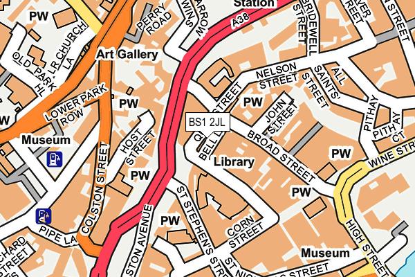 BS1 2JL map - OS OpenMap – Local (Ordnance Survey)