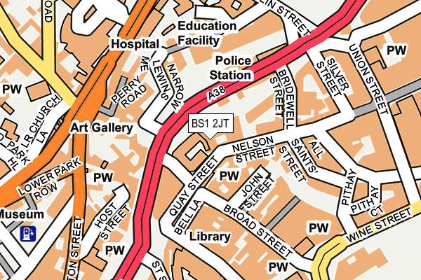 BS1 2JT map - OS OpenMap – Local (Ordnance Survey)
