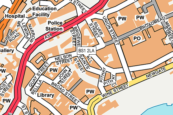 BS1 2LA map - OS OpenMap – Local (Ordnance Survey)
