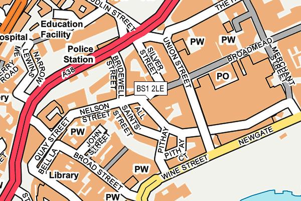 BS1 2LE map - OS OpenMap – Local (Ordnance Survey)