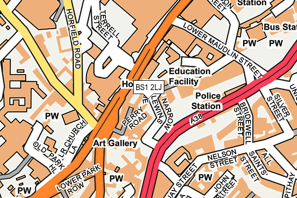 BS1 2LJ map - OS OpenMap – Local (Ordnance Survey)