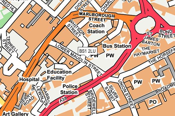 BS1 2LU map - OS OpenMap – Local (Ordnance Survey)