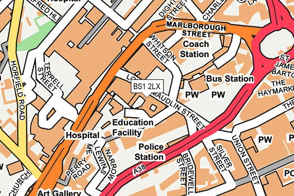 BS1 2LX map - OS OpenMap – Local (Ordnance Survey)