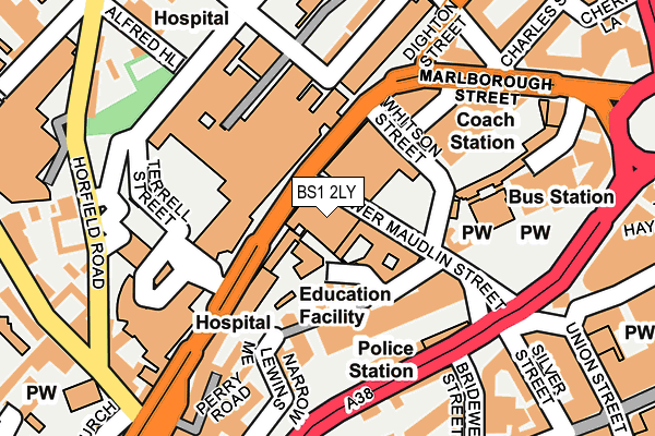 BS1 2LY map - OS OpenMap – Local (Ordnance Survey)
