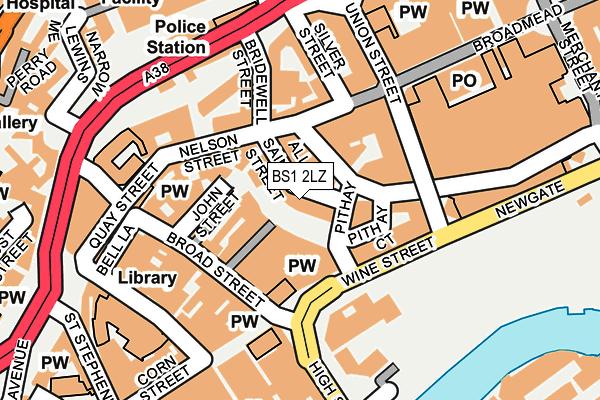 BS1 2LZ map - OS OpenMap – Local (Ordnance Survey)