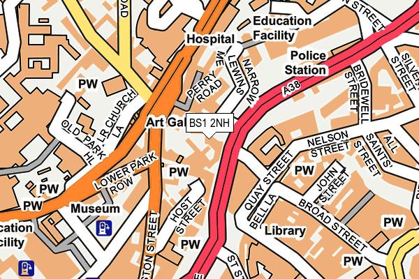 BS1 2NH map - OS OpenMap – Local (Ordnance Survey)