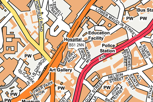 BS1 2NN map - OS OpenMap – Local (Ordnance Survey)